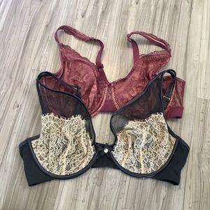 Bundle - 2 pair Cacique Lane Bryant bras 40DD